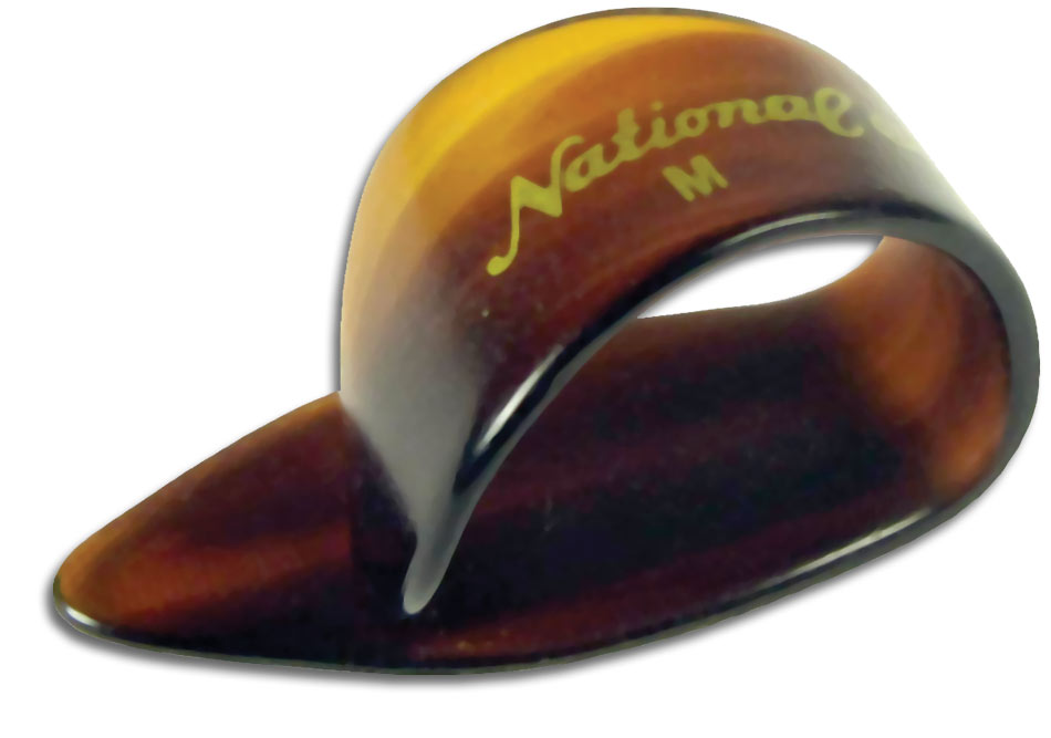 National NP-7T Faux-Tortoise Med Thumbpick. S