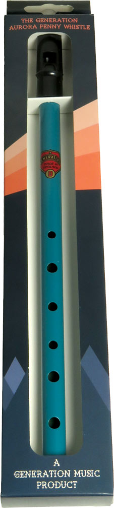 Generation Aurora High D Penny Whistle, Teal