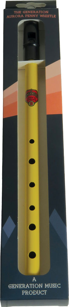 Generation Aurora High D Penny Whistle, Yellow