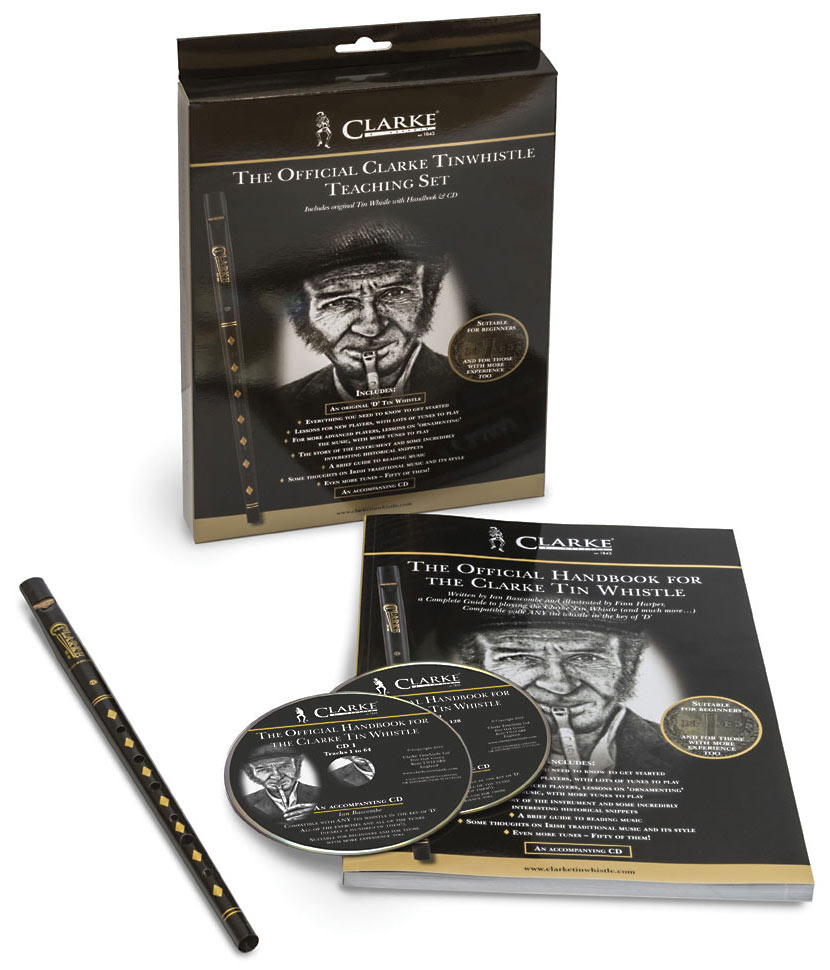Clarke WTCD High D Whistle Set, Book/CD