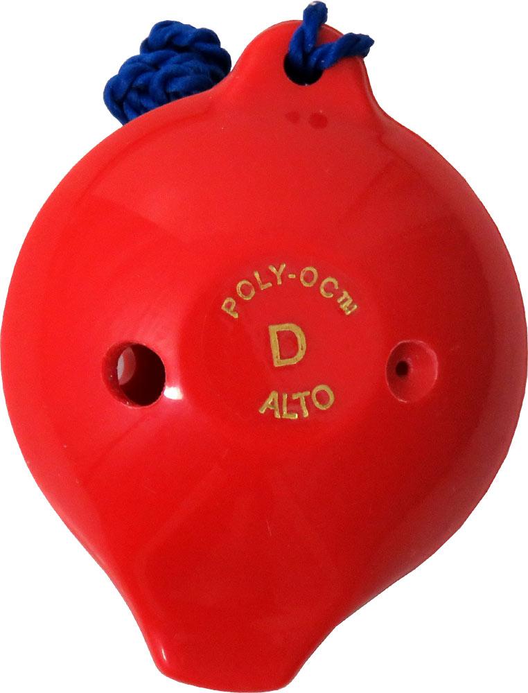 Polyoc 6 Hole Ocarina, Red