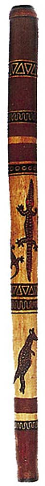 Atlas Wood Didgeridoo, painted
