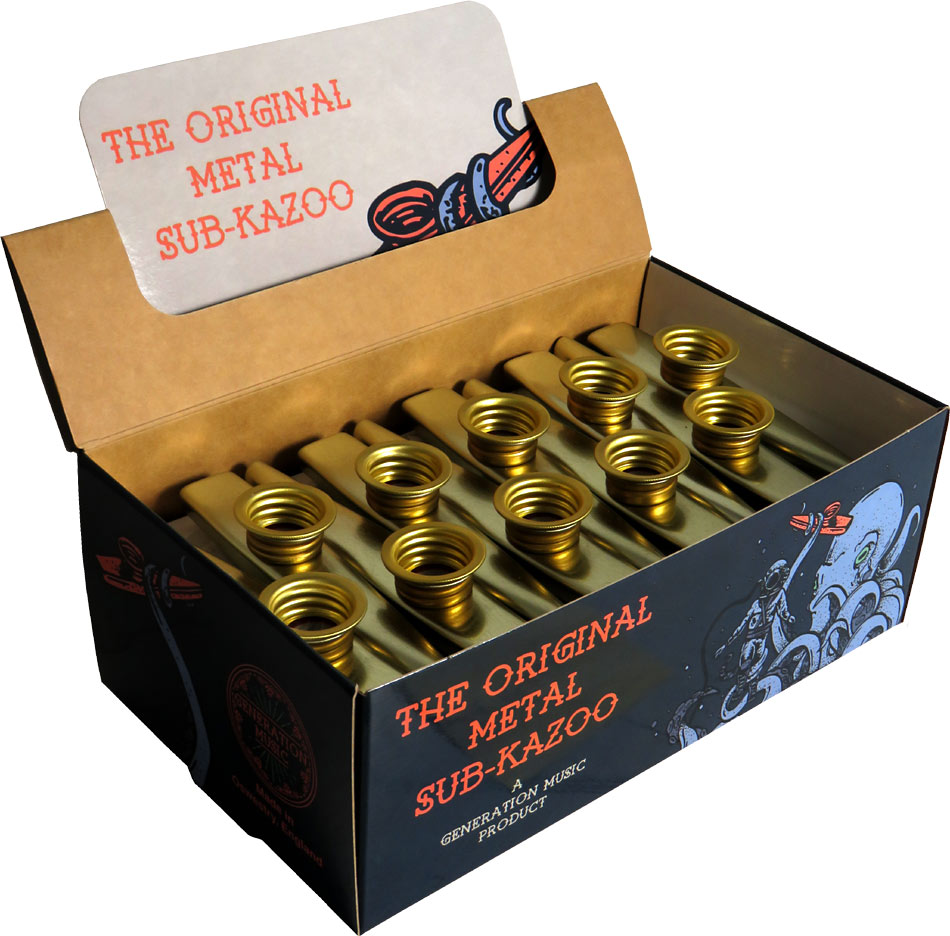 Generation SK30 Box of Sub Metal Kazoos, Gold