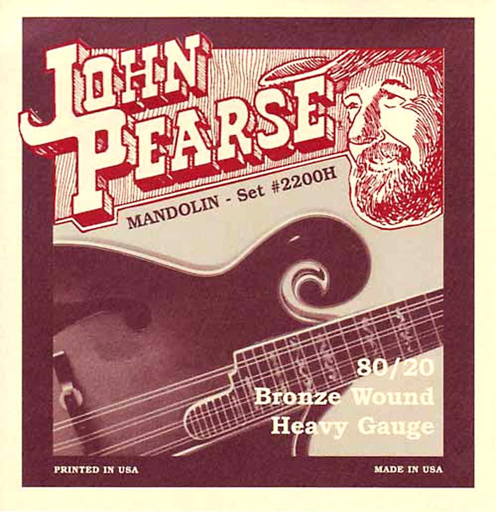 John Pearse 2210H Mandolin Strings, Heavy Gauge