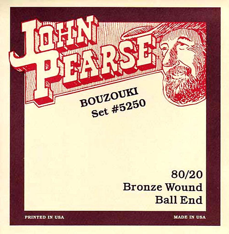 John Pearse 5250S Bouzouki Set, 80/20 Bronze