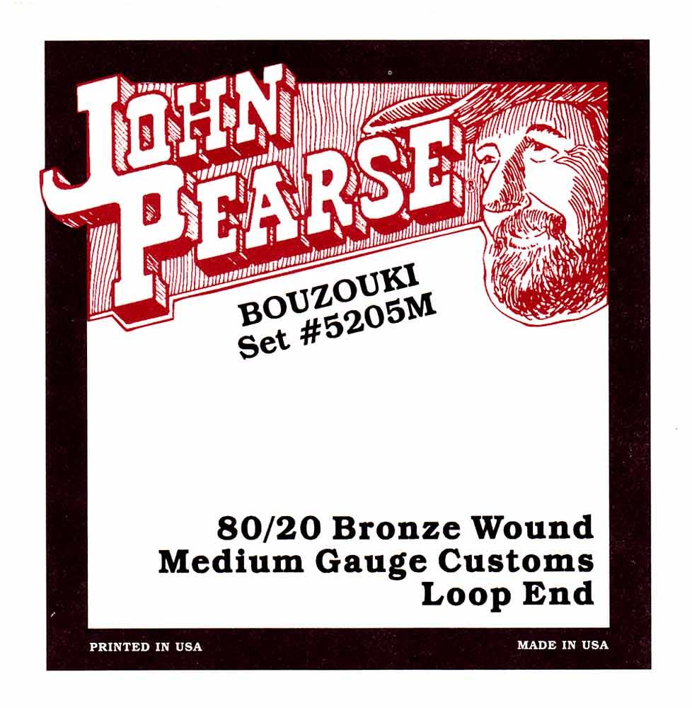 John Pearse 5205M Irish Bouzouki, Medium Gauge