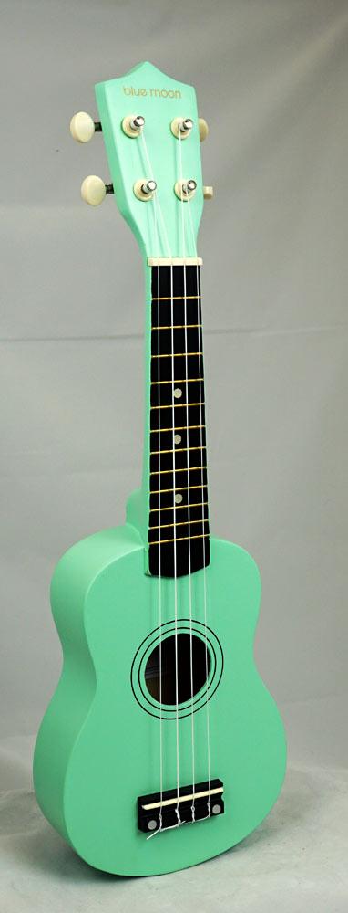 Blue Moon BU-02G Coloured Soprano Uke, Green