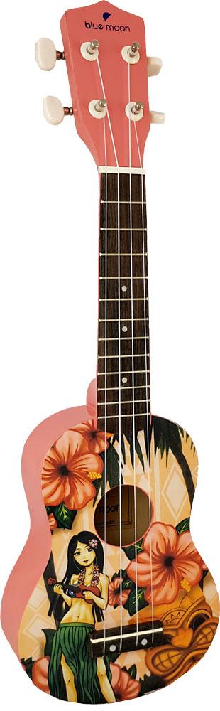 Blue Moon BU-05 Hawaiian Design Soprano Uke
