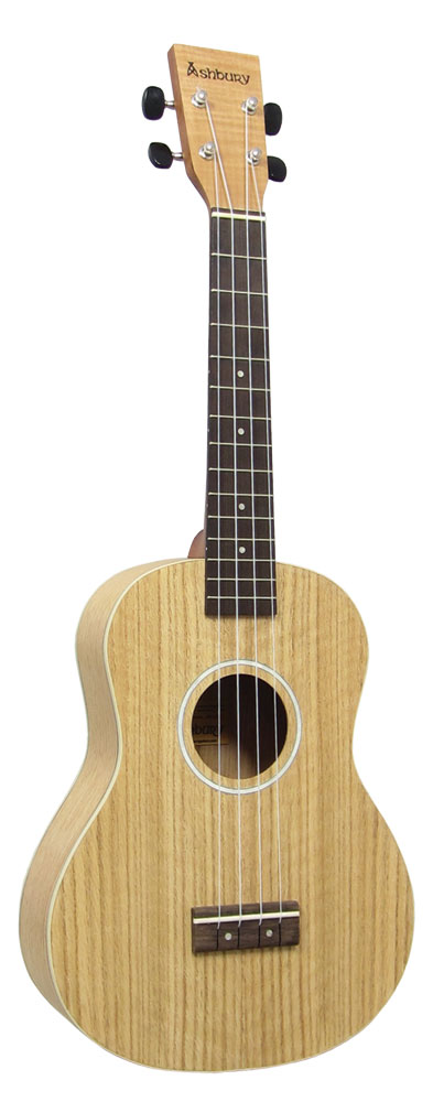 Ashbury AU-40 Tenor Ukulele, Flamed Oak