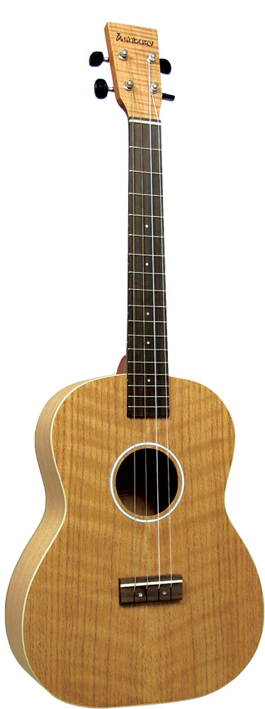 Ashbury AU-40 Baritone Ukulele, Flamed Oak