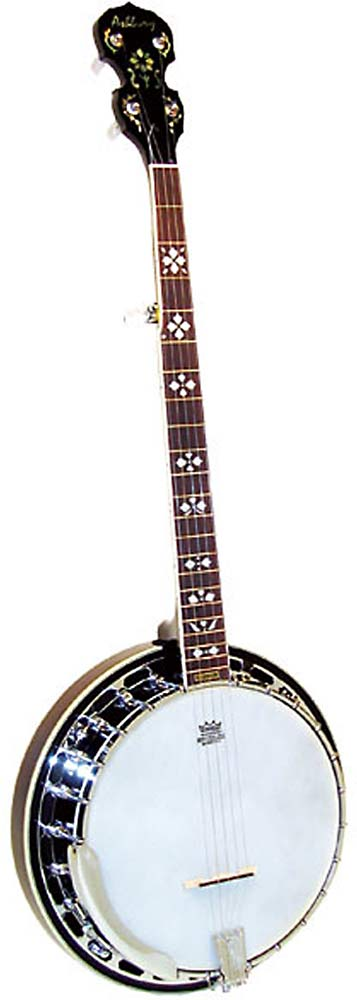 Ashbury AB-45 5 String Banjo, Brass Tone Ring