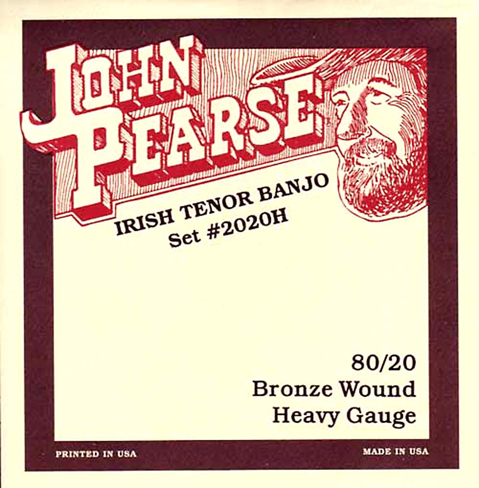 John Pearse 2020H Irish Tenor Banjo, Heavy, Bronze