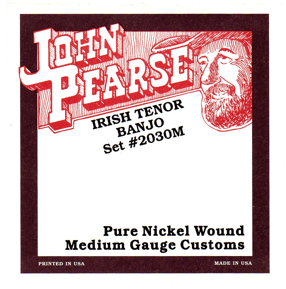 John Pearse 2030M Irish Tenor Banjo, Med, Nickel