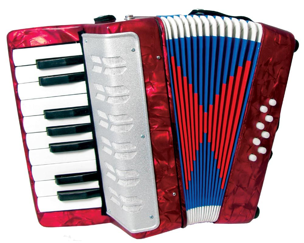 Scarlatti Child's Piano Accordion, Red