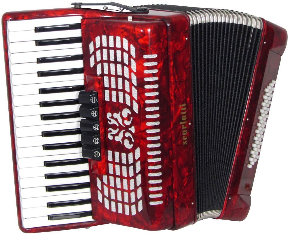 Scarlatti Piano Accordion, 48 Bass. 3v