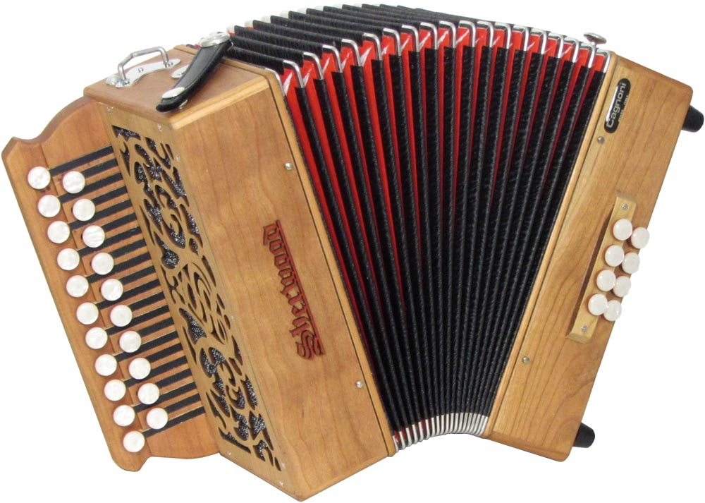 Sherwood Shire II D/G Melodeon, Cagnoni Reeds