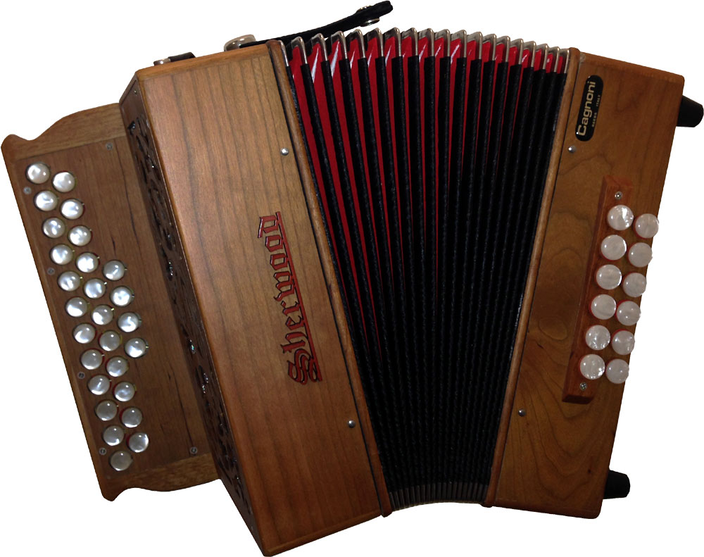 Sherwood Stowe II D/G Melodeon, Cagnoni Reeds