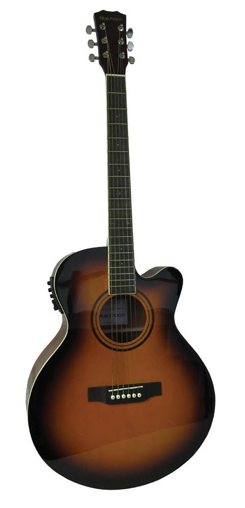 Blue Moon BG-34E Electro Acoustic Guitar, S/B