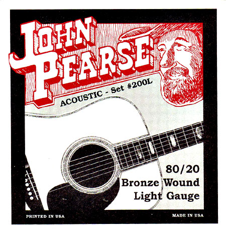 John Pearse 200L Guitar Set, Light, Bronze