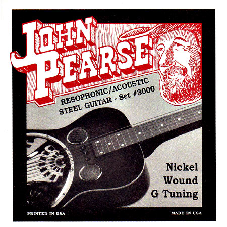 John Pearse 3000 Resophonic Guitar, G Tuning