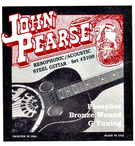 John Pearse 3100 Resophonic Guitar, G Tuning