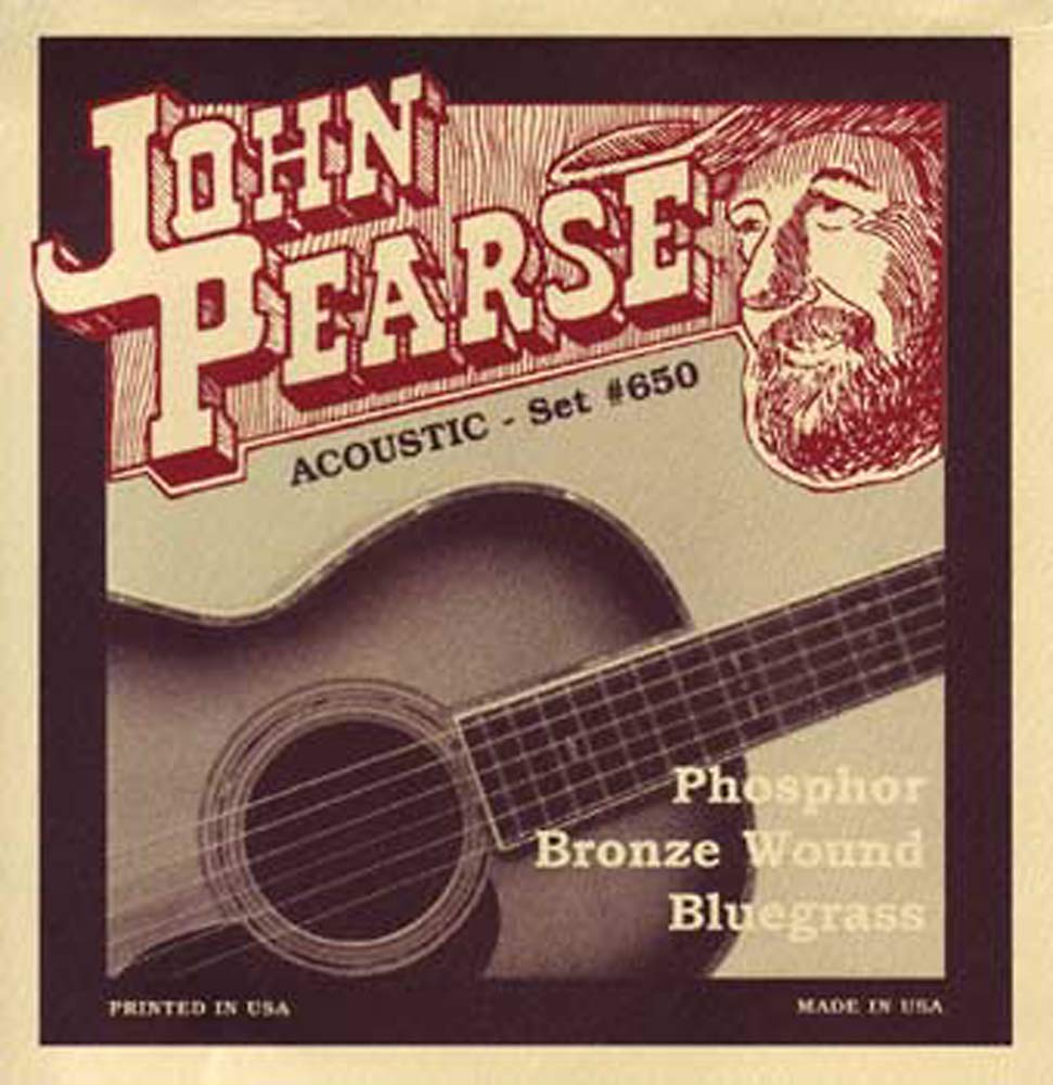 John Pearse 650 Bluegrass Guitar Set, G Tuning