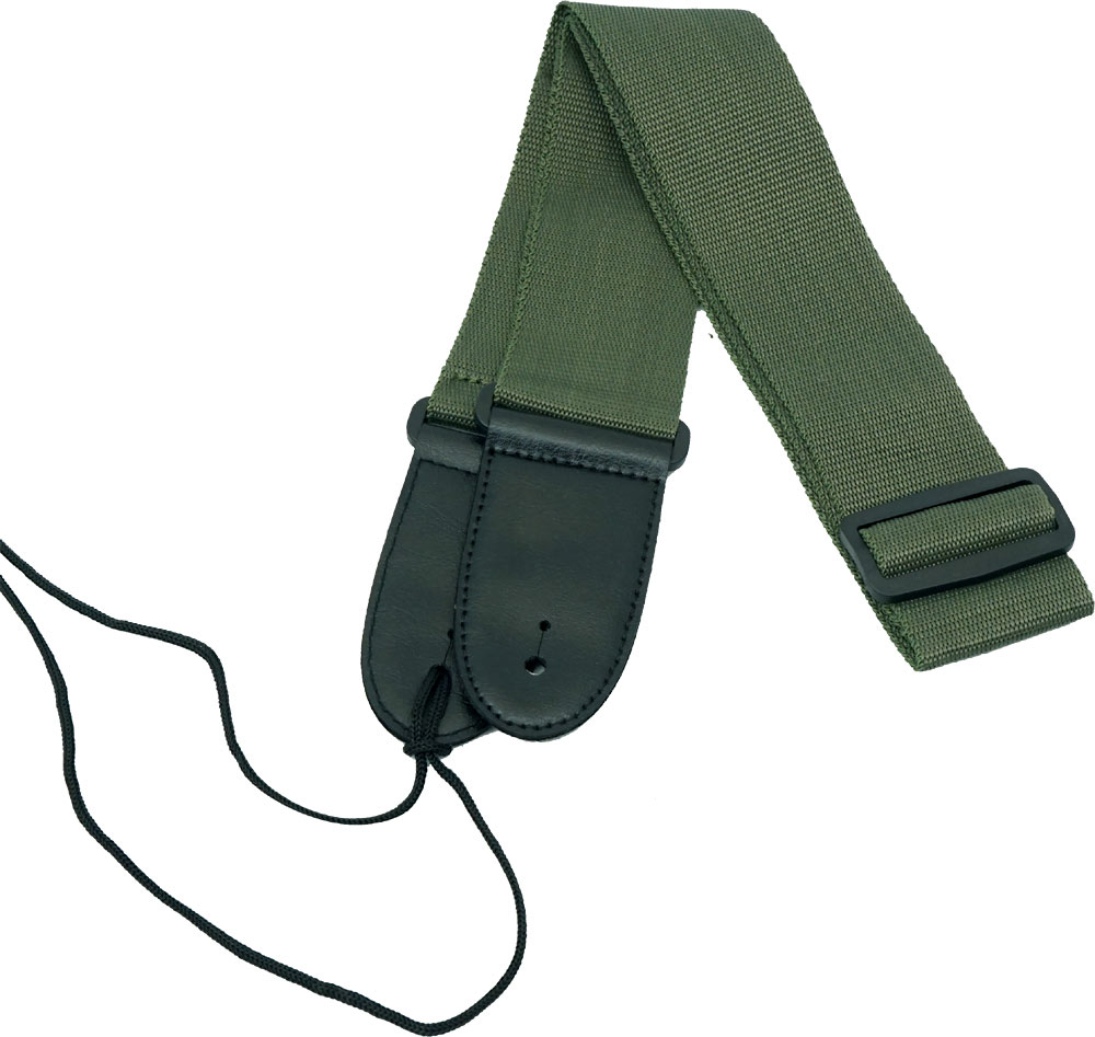 Viking Webbing Guitar Strap, Green