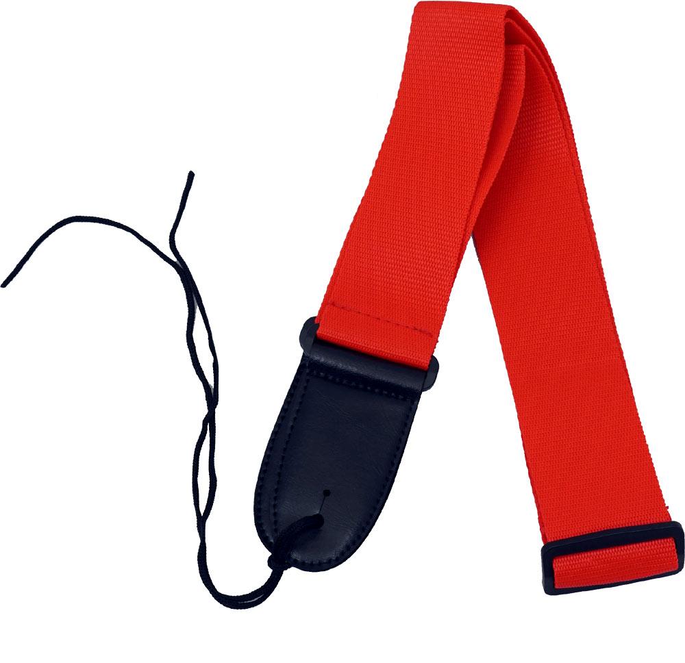 Viking Webbing Guitar Strap, Red