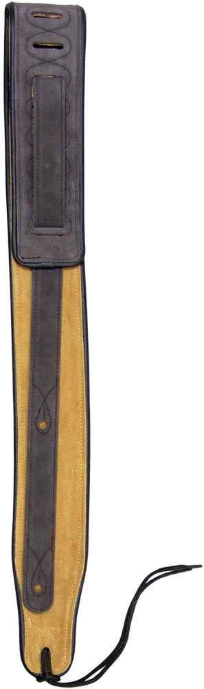Viking Suede Guitar Strap, Brown