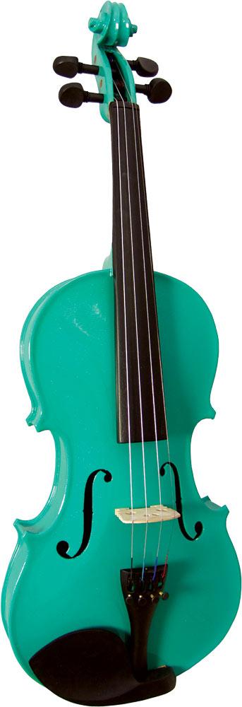 Blue Moon VG-105 Green Violin, Full Size