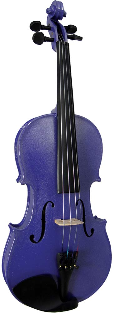 Blue Moon VG-105 Purple Violin, 3/4 Size