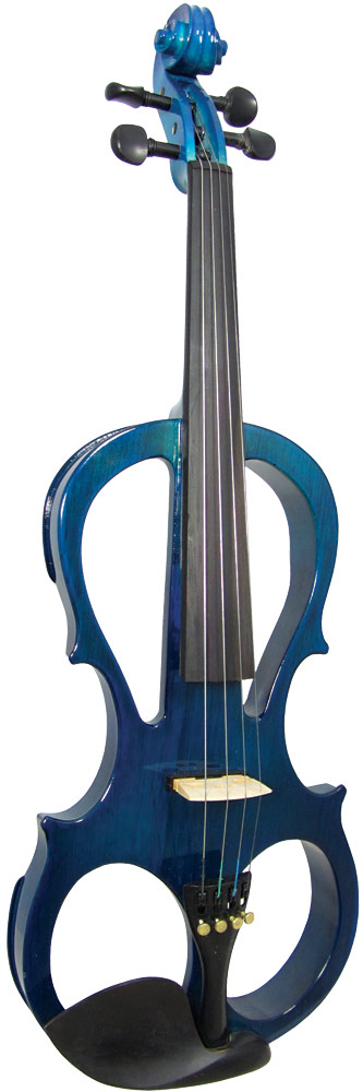 Valentino VE-008 Electric Frame Violin, Blue