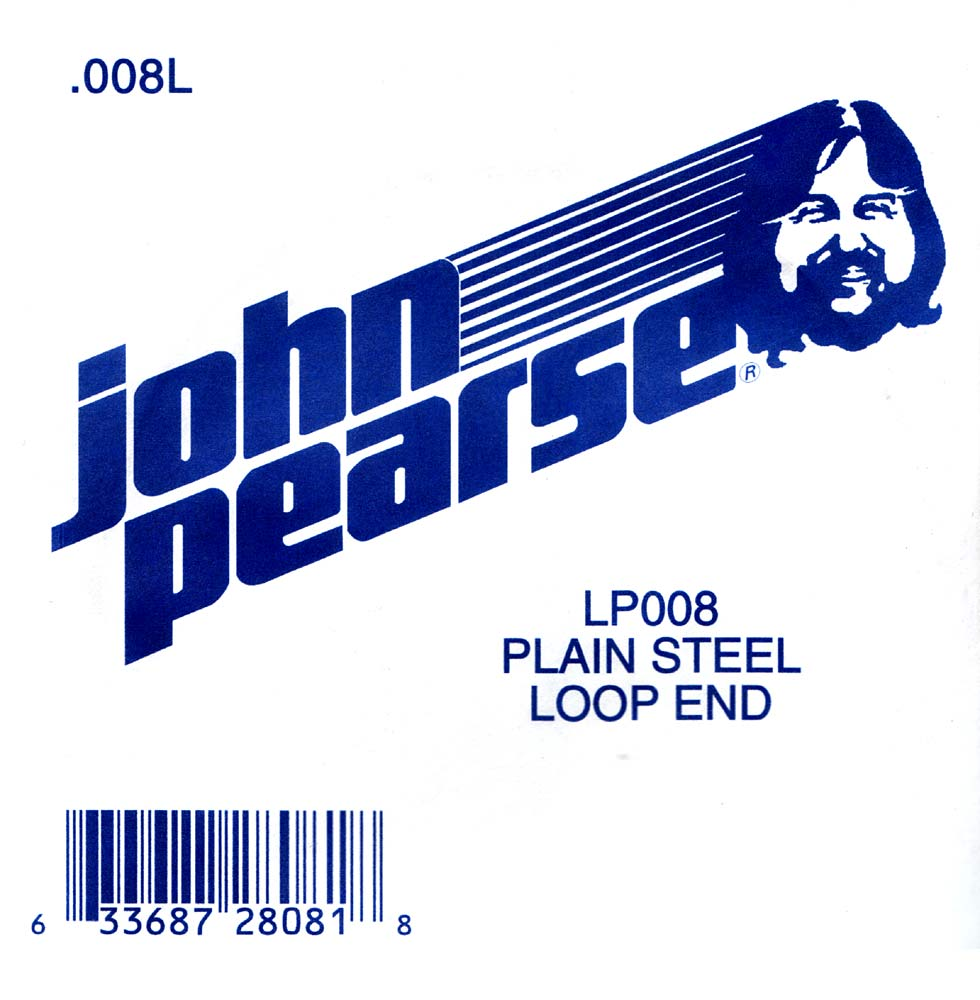 John Pearse Plain loop end string .008