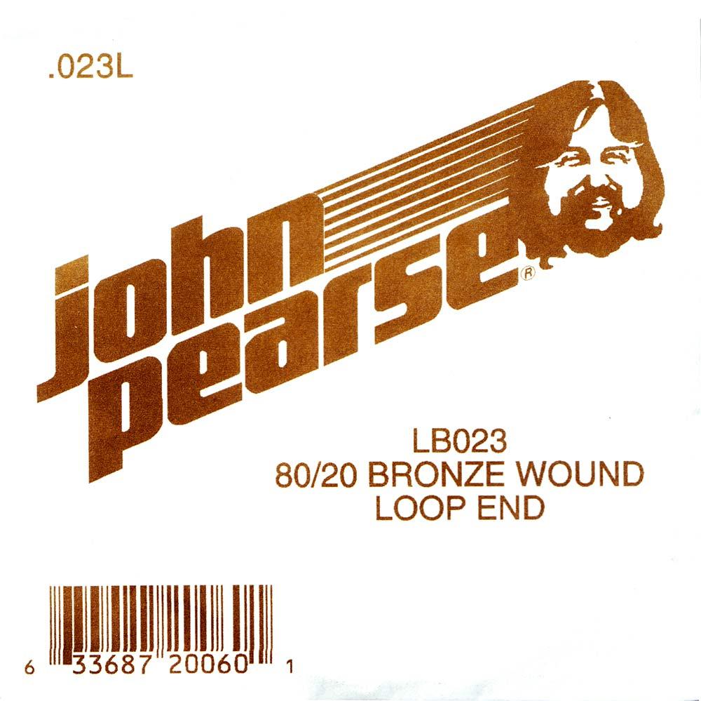 John Pearse Bronze loop end string .023