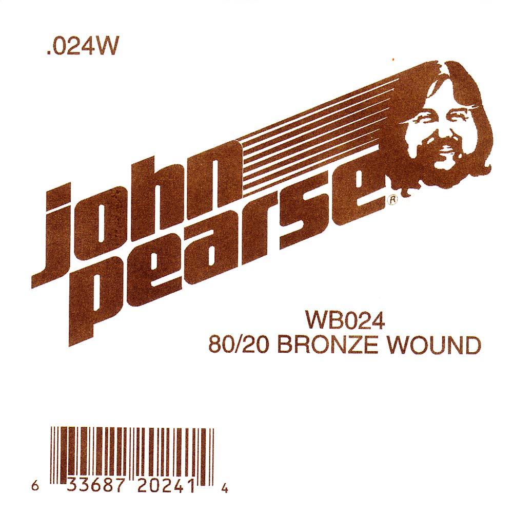 John Pearse Bronze ball end string .024