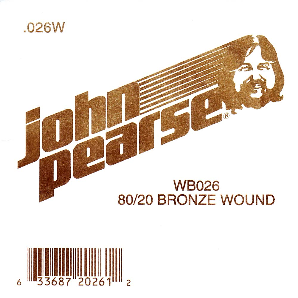 John Pearse Bronze ball end string .026