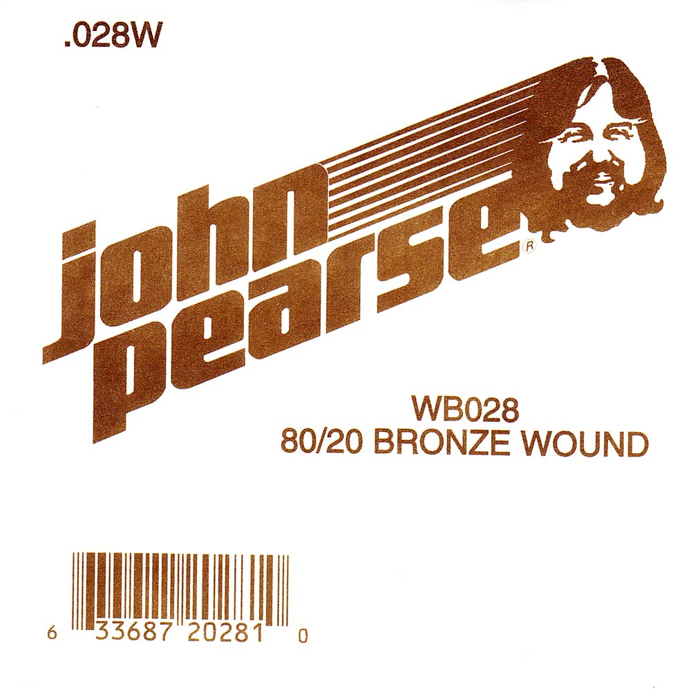 John Pearse Bronze ball end string .028