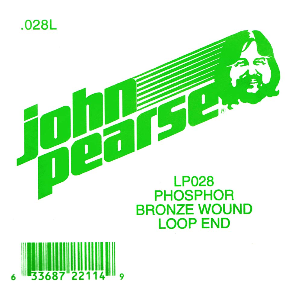 John Pearse Phosphor bronze loop end .028