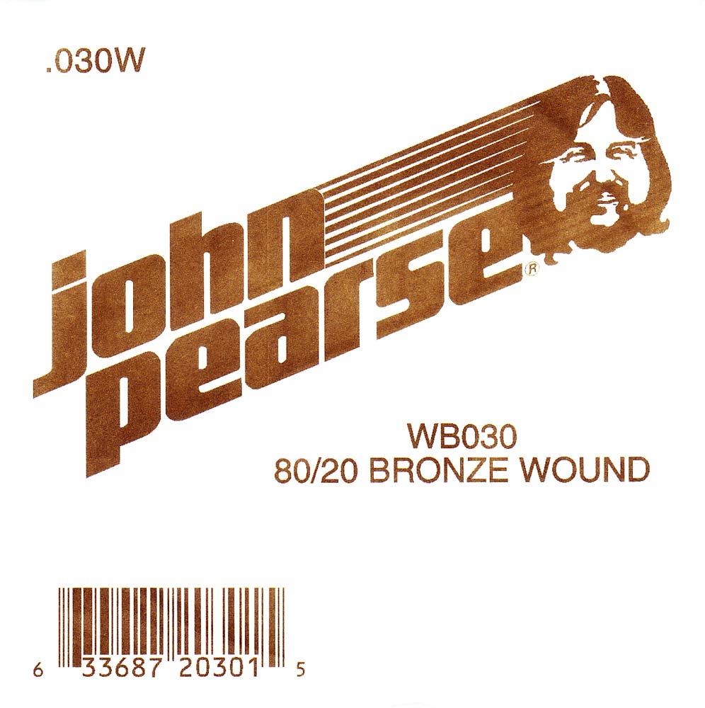 John Pearse Bronze ball end string .030