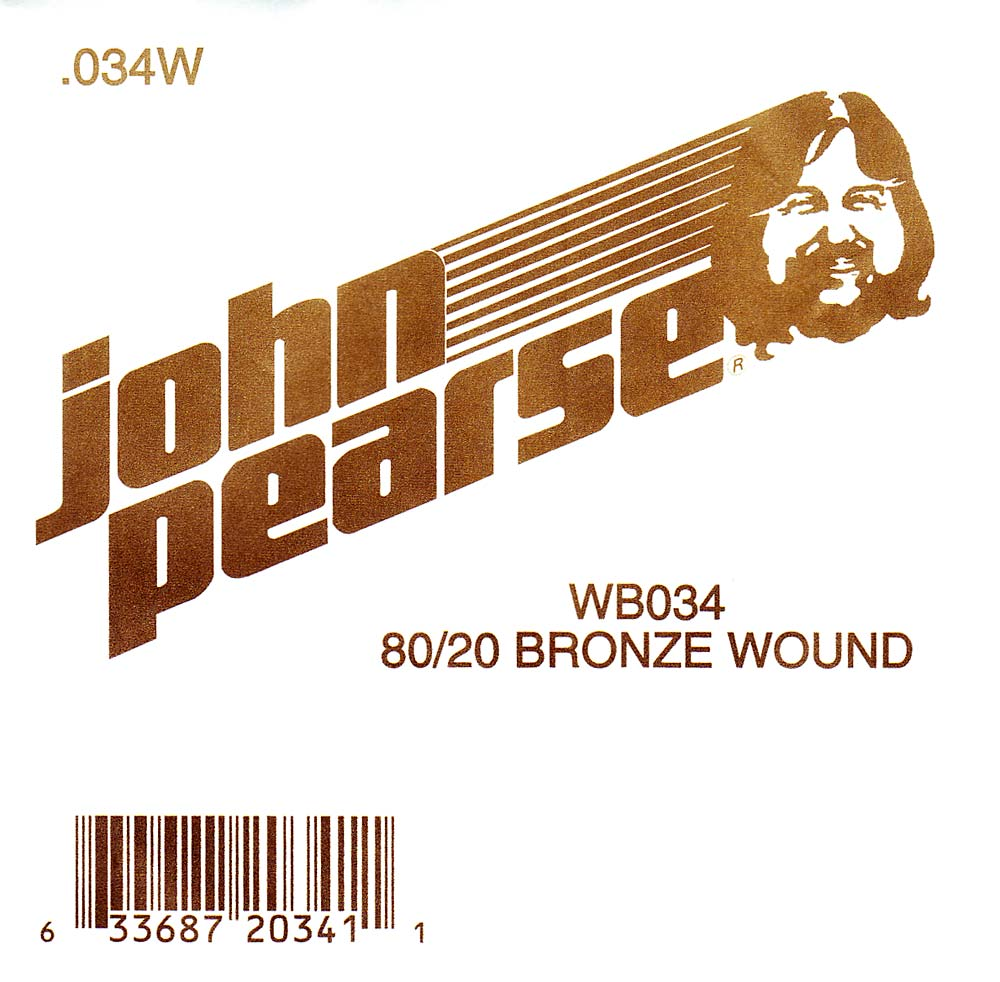 John Pearse Bronze ball end string .034