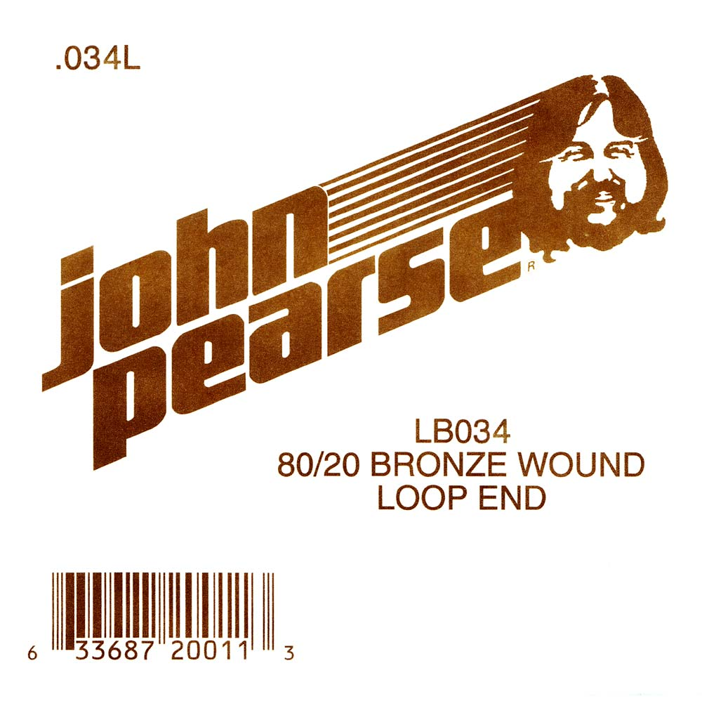 John Pearse Bronze loop end string .034
