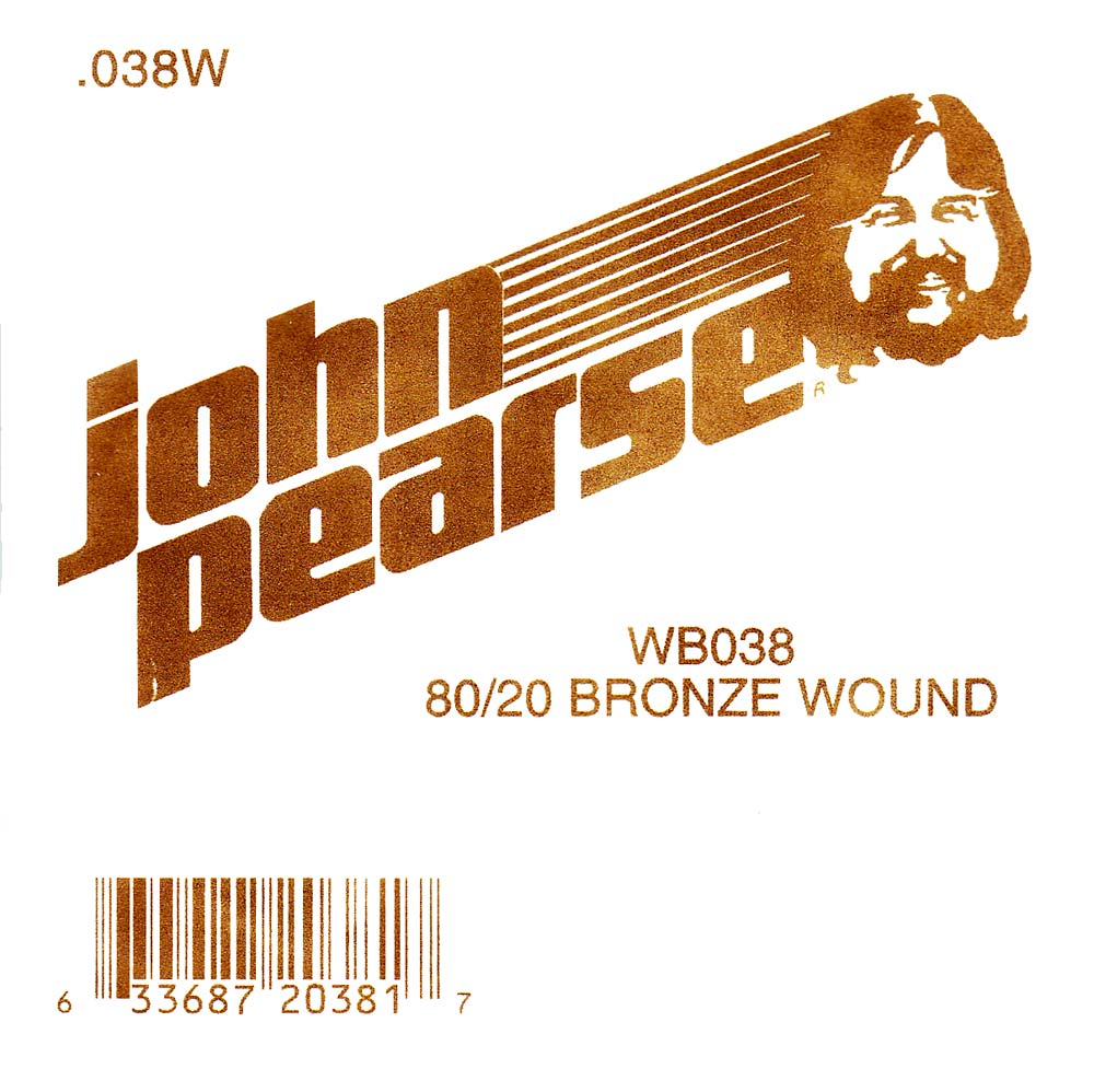 John Pearse Bronze ball end string .038