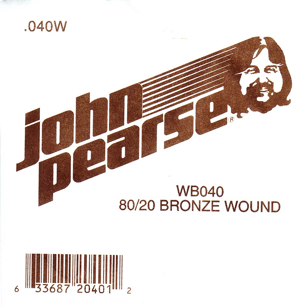John Pearse Bronze ball end string .040