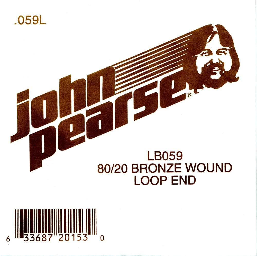 John Pearse Bronze loop end string .059
