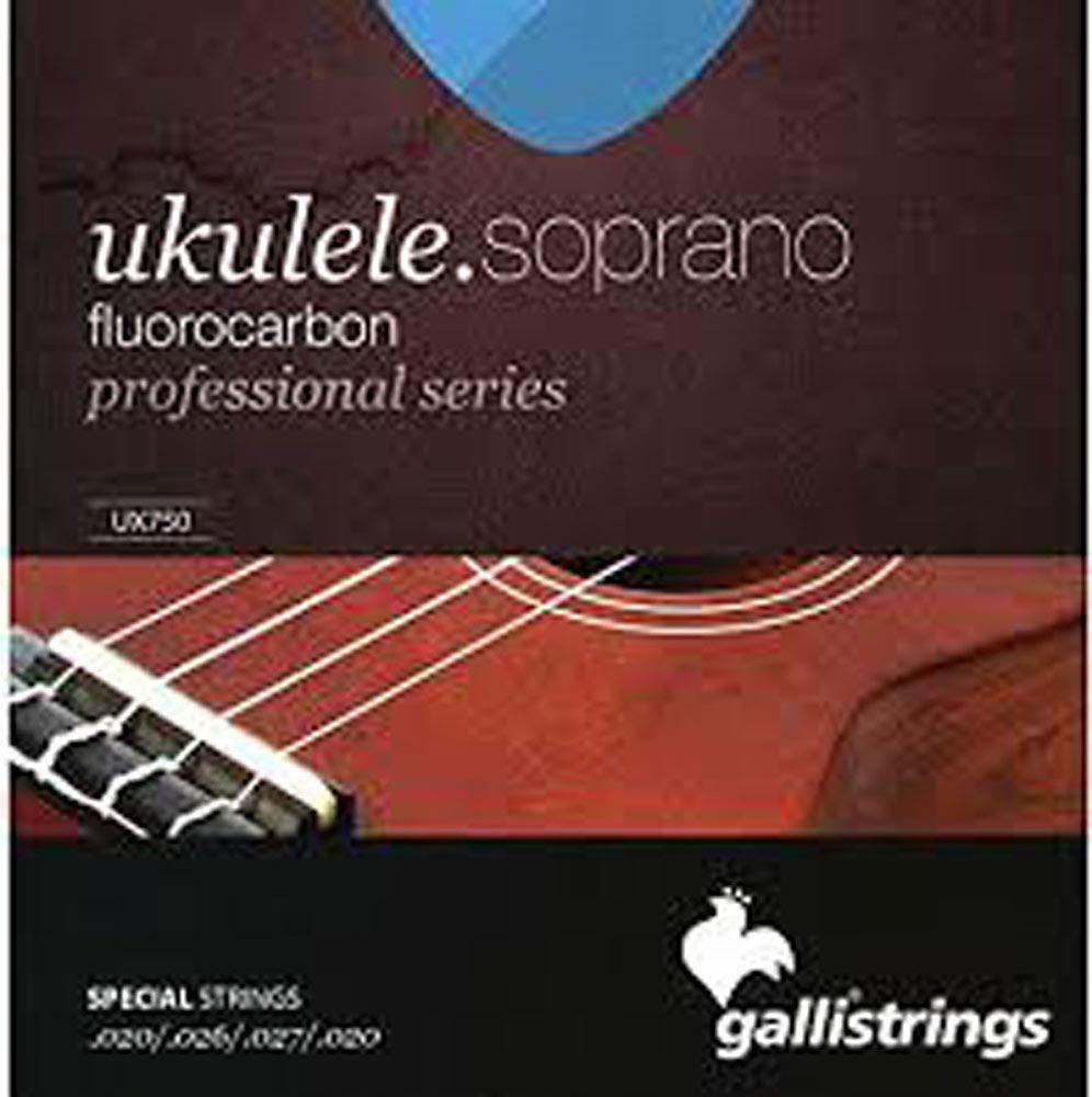 Galli UX-750 Uke Strings, Sop Fluorocarbon