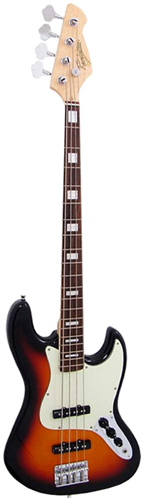 Revelation RBJ67 Jazz Bass Guitar, Sunburst