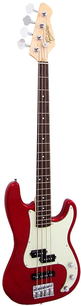 Revelation RPJ77 P Bass Guitar, Metallic Red