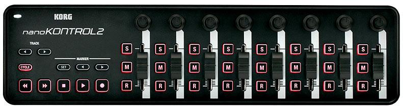 Korg Tuners and Keyboards NANOKONTROL2-BK 8 Channel USB Controller