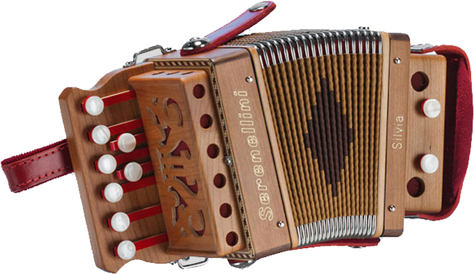 Serenellini Silvia Mini 1 1/2 row Melodeon in G