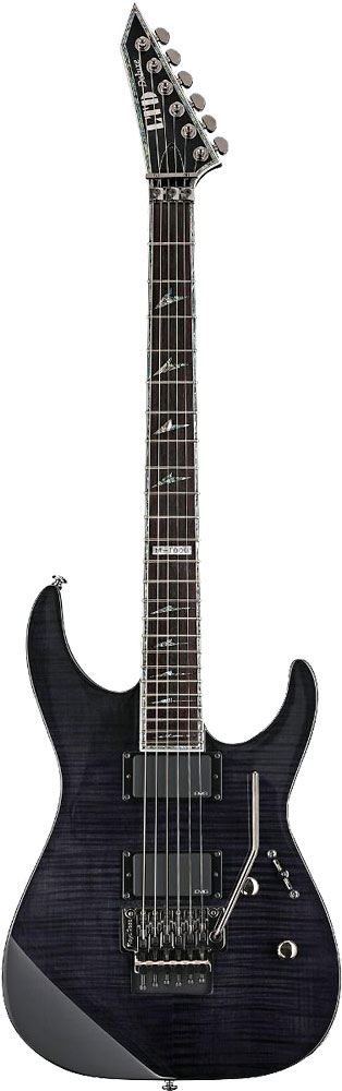 Ltd Electric Guitars MH-1000 Electric Guitar, See-Thru Black